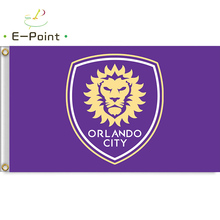 MLS Orlando City SC 3ft*5ft (90*150cm) Size Decoration Flag Banner