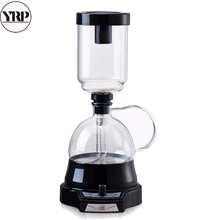 YRP Coffee Syphon Pot Electric Hand-turning knob 3 Cups Siphon Brewer Drip Vacuum Filter Maker Kettle Percolator