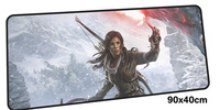 tomb raider mousepad gamer 900x400X3MM gaming mouse pad large Professional notebook pc accessories laptop padmouse ergonomic mat