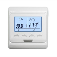 M6 716 220V 16A LCD Programmable Electric Digital Floor Heating Room Air Thermostat Warm Floor Controller