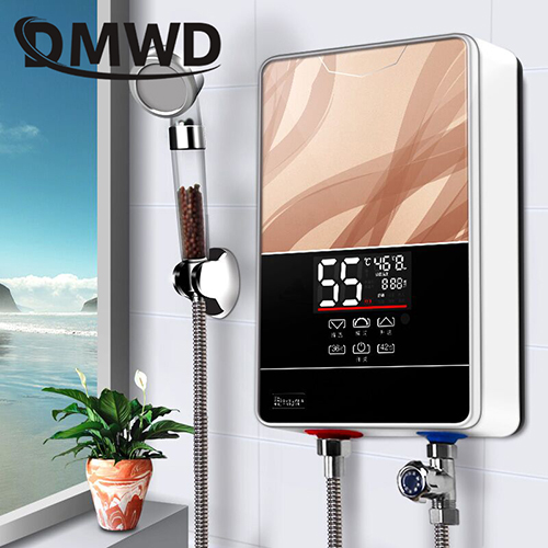 Electric Water Heaters Water Heaters Dmwd Instant Tankless Electric Hot Water Heater Faucet Kitchen Instant Heating Tap Shower Bathroom Heater Led Display Eu Us Plug