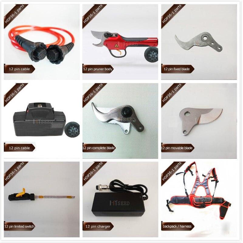 HDP36-1 12 broches pièces de rechange, batterie, câble/plomb, lames, sécateur corps et fin de course