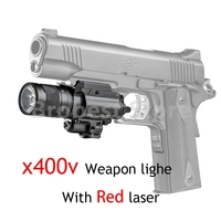 Tactical X400V Pistol Light Combo Red Laser Constant / Momentary / Strobe Output Weapon Rifle Gun Flashlight