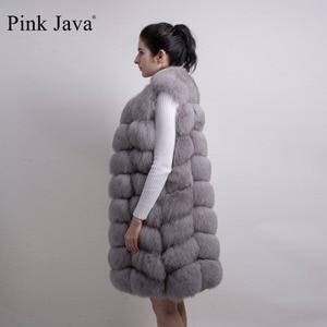 Image 5 - الوردي جافا QC8032 النساء معطف الشتاء الفاخرة الفراء سترة ريال فوكس الفراء سترة طويلة سترة الطبيعية الثعلب جيليه رائجة البيع جودة عالية