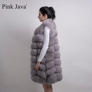 Image 5 - pink java QC8032 women coat winter luxury fur jacket real fox fur vest long vest natural fox gilet hot sale  high quality