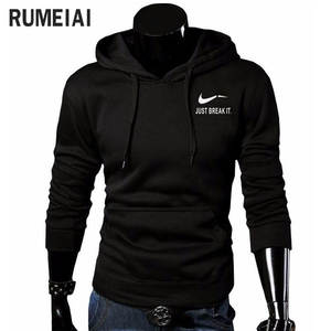 RUMEIAI Printed Men Sweatshirt Male Hooded Hoody clothing