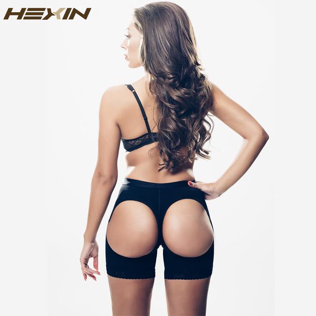 HEXIN Mujeres Booty Butt Lifter Underwear Bum Lift Glúteos Enhancer Shaper Sexy Butt Lift Tummy Control de Bragas de Fondo Abierto