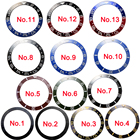 1 pic 38MM Ceramic\aluminum Red Black Blue Green bezel ( 13 color chosen) insert fit automatic 40mm parnis watch