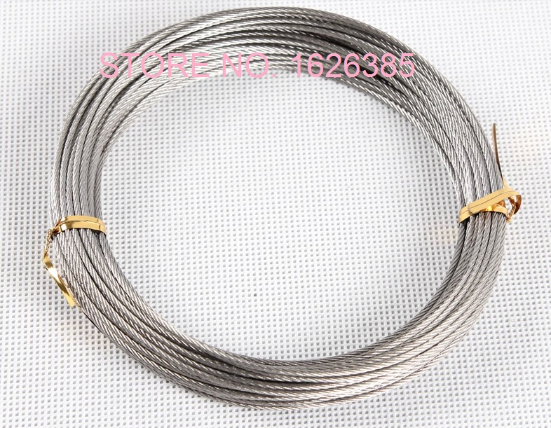 2pcs, 8M, 10M, 12M, 1.5MM 7X19, 316 softer Stainless steel wire rope ...