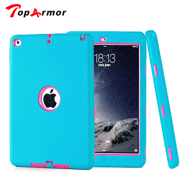 TopArmor Tough Military Hard Rugged Heavy Duty ShockProof Dirt Proof Armor Case Cover Impact On Life for ipad air 2 ipad 6 9.7 new arrival tough military rugged heavy shockproof dirt proof armor case cover impact on life for ipad 432 free shipping
