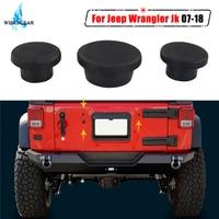 Para jeep wrangler jk bagageira durável pequeno plugues de borracha conjunto removível snug buraco plug 2007 2018 exterior acessórios wisengear/ Batente e painel externo p/ portas     -