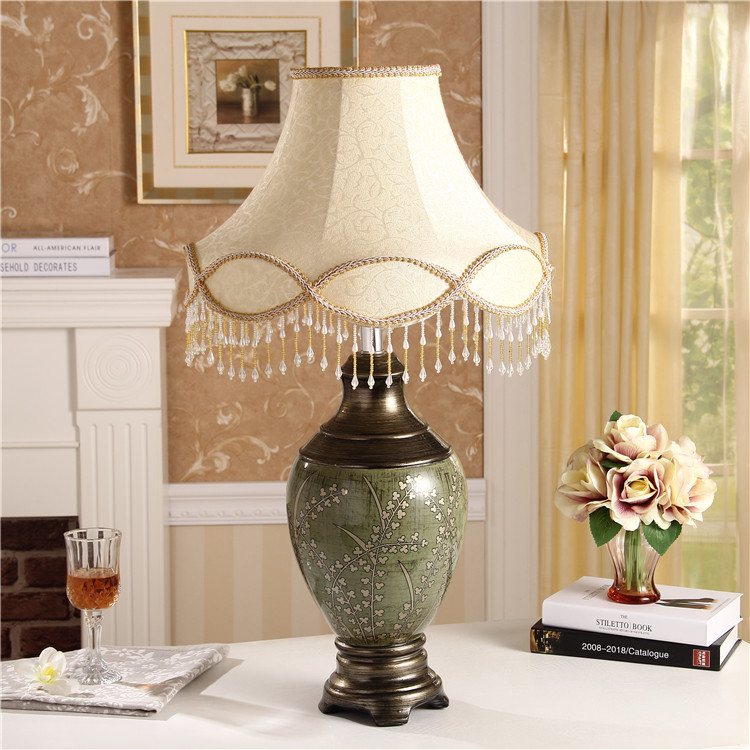 Large Modern European Ceramic Lamp Bedroom Bedside Lamp