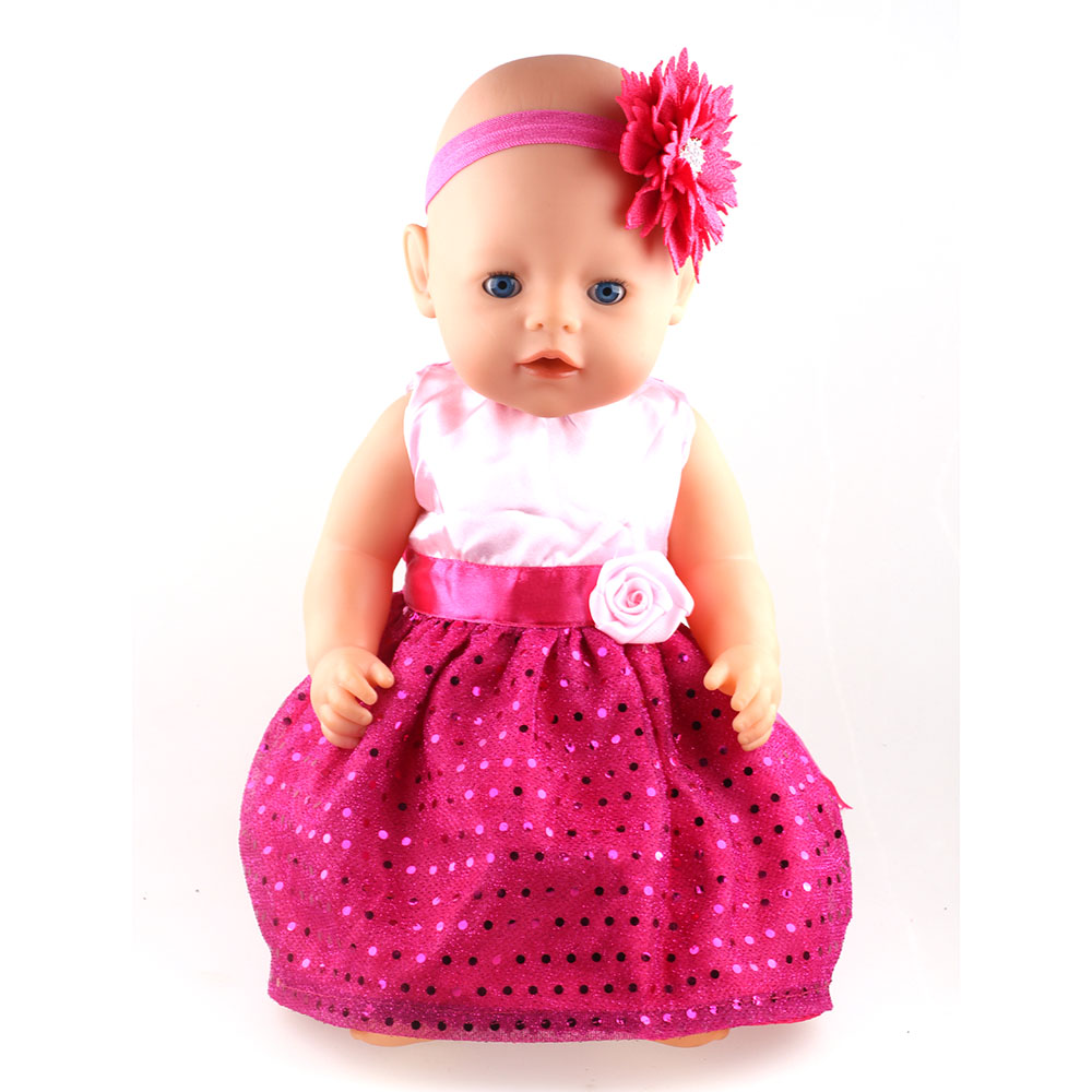 New Arrival Princess Dress Doll Clothes Fit 43cm Baby Born