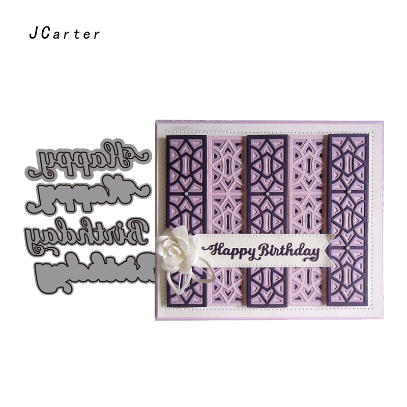 JC Metal Cutting Dies Scrapbooking Dies Cut Happy Birthday Words Letters Card Make Stencil Craft Folder Paper Album Alinacrafts in Cutting Dies from Home Garden