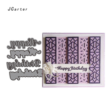 JC Metal Cutting Dies Scrapbooking Cut Happy Birthday Words Letters Card Make Stencil Craft Folder Paper Album Alinacrafts