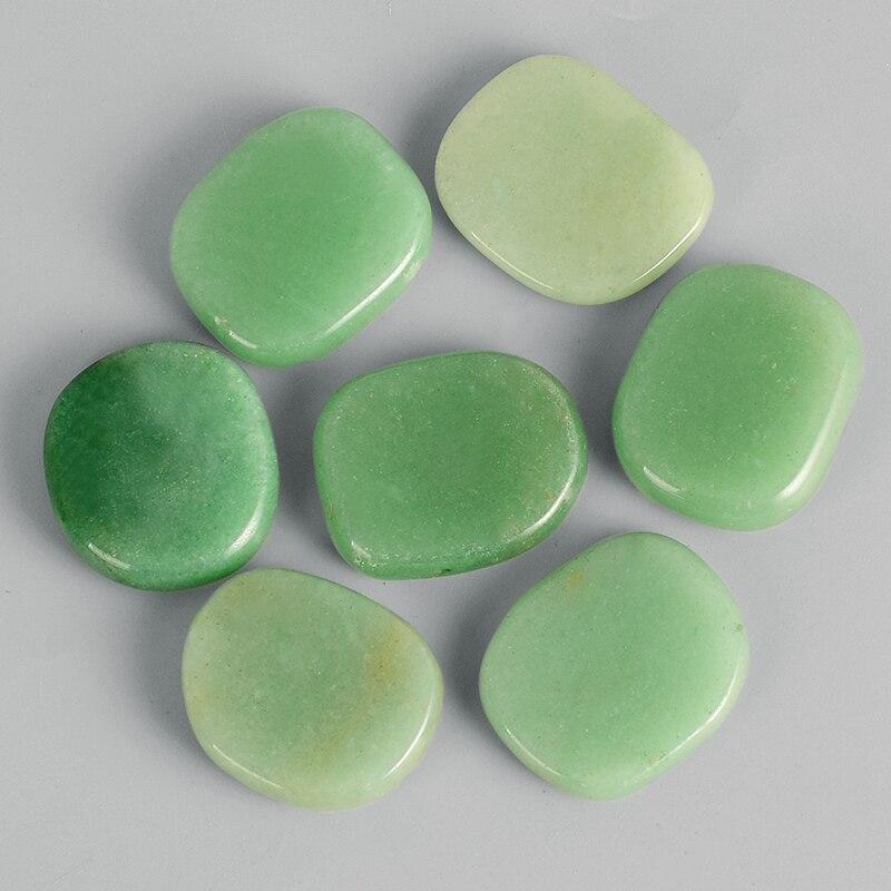 25 мм ладони камень натуральный зеленый авантюрин Исцеление Reiki из кварца изделие из хрусталя миниатюрный Винтаж минералы чакра обработки к...