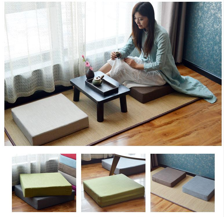 Tatami Cushion Chair Sponge Yoga-Mat Square Home-Decorative New And Seat Removable Washable