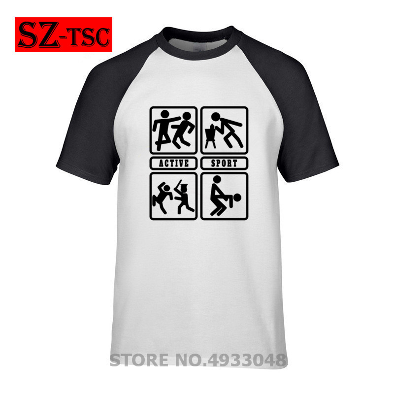 Problem Solved sport fun <font><b>sex</b></font> alcohol beer police fight T-Shirt Short Sleeve Tee Shirts Cotton <font><b>Funny</b></font> Streetwear Male Print <font><b>Tshirt</b></font> image