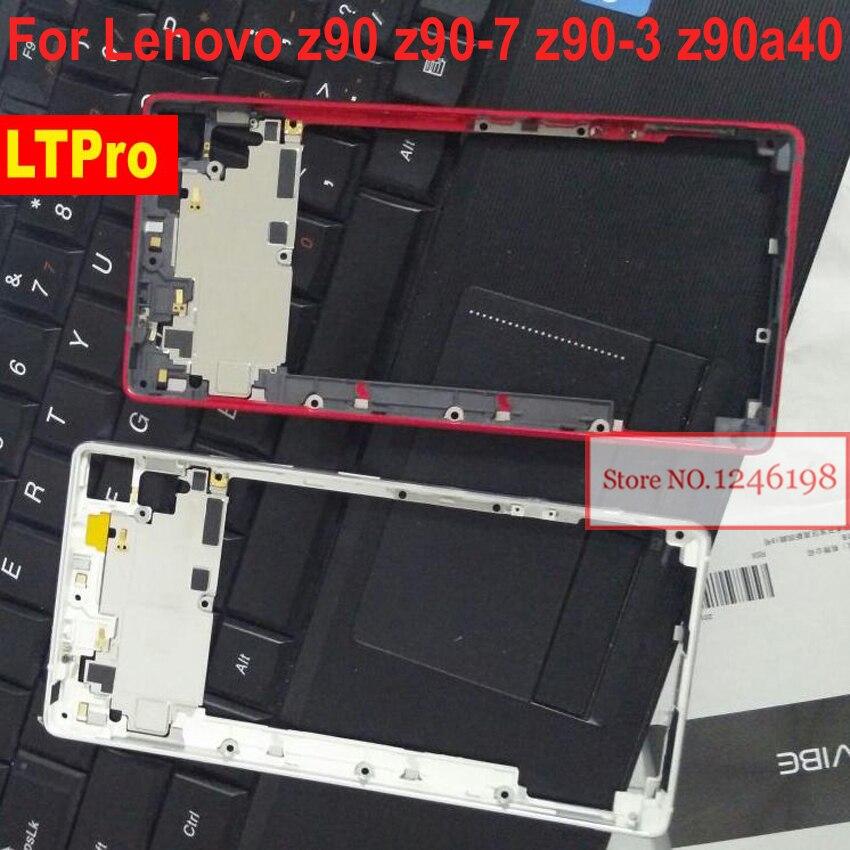 LTPro Gray Red Silver New Middle Frame / Bezel For Lenovo VIBE Shot MAX Z90 Z90a40 Z90-7 Z90-3 Z90-a Z90a Phone Parts