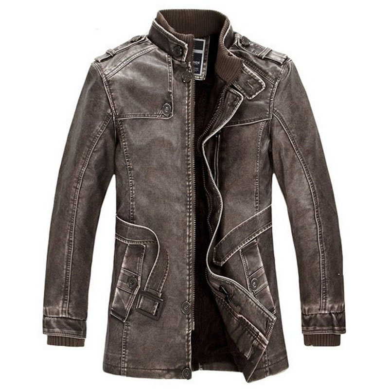 Loldeal 2018 vestes en cuir Slim hommes manteaux hiver moto
