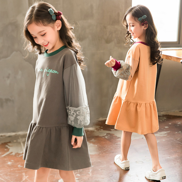 fdedcdeb5995b US $24.25 9% OFF|2018 autumn girls long sleeve dresses kids clothes teenage  fashion -in Dresses from Mother & Kids on Aliexpress.com | Alibaba Group