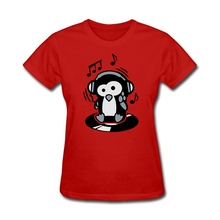 Penguin Maverick – Lord of the turntables women shirt