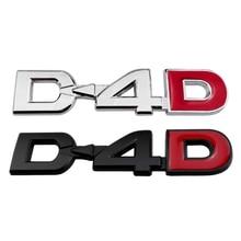 Metallo Sticker D-4D Logo Per Toyota Land Cruiser Prado RAV4 Kuga Yaris Prius Corolla Camry Auto Esterno Accessori Decalcomanie Auto