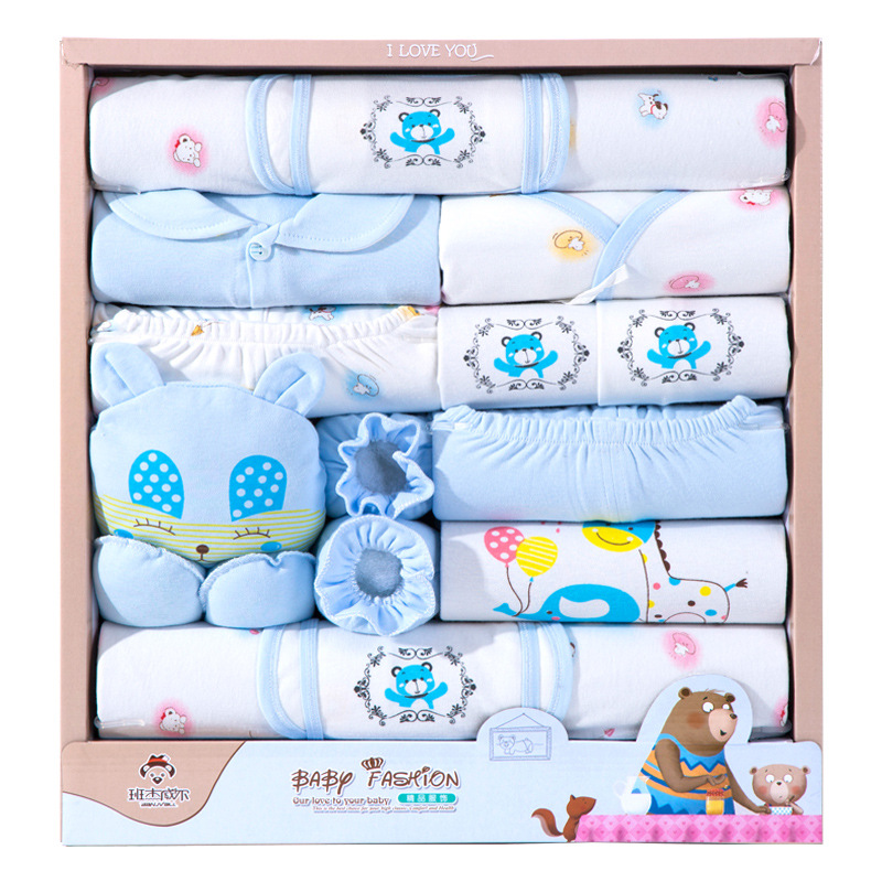 18pcs/Set baby clothing sets cotton Newborn Baby Clothes sets Girls Boys Outfits Gift bag 10pcs baby products boy and girls full moon fashion sets spring and autumn baby best gift newborn baby clothes unisex set cotton