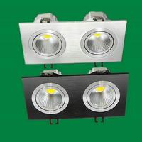 6 STKS Vierkante LED Downlight 2X7 w AC110V AC220V COB LED Plafond Verzonken Plafond Warm Koud Wit LED Spot Indoor Licht