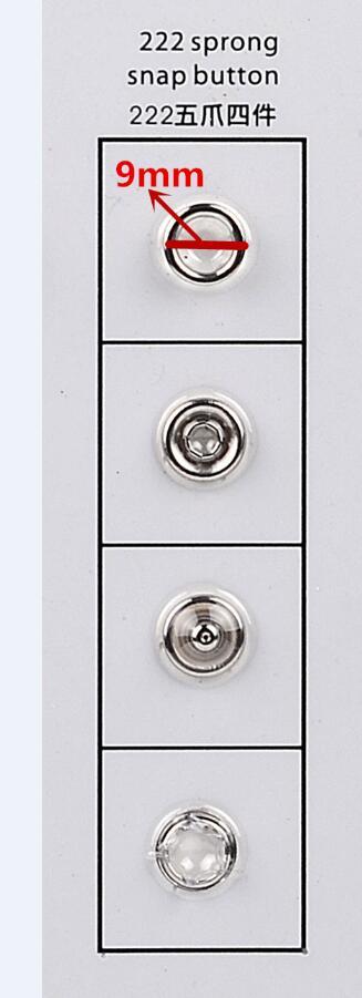 5 pièces KAM 222 en métal ensemble de matrices pour DK93 presse machine + 5000 ensembles 222 boutons-pression en métal