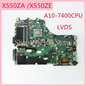 цена на X550ZA motherboard REV2.0 For ASUS X550ZA A10-7400CPU Laptop motherboard X550 X550Z X550ZE Notebook mainboard fully tested