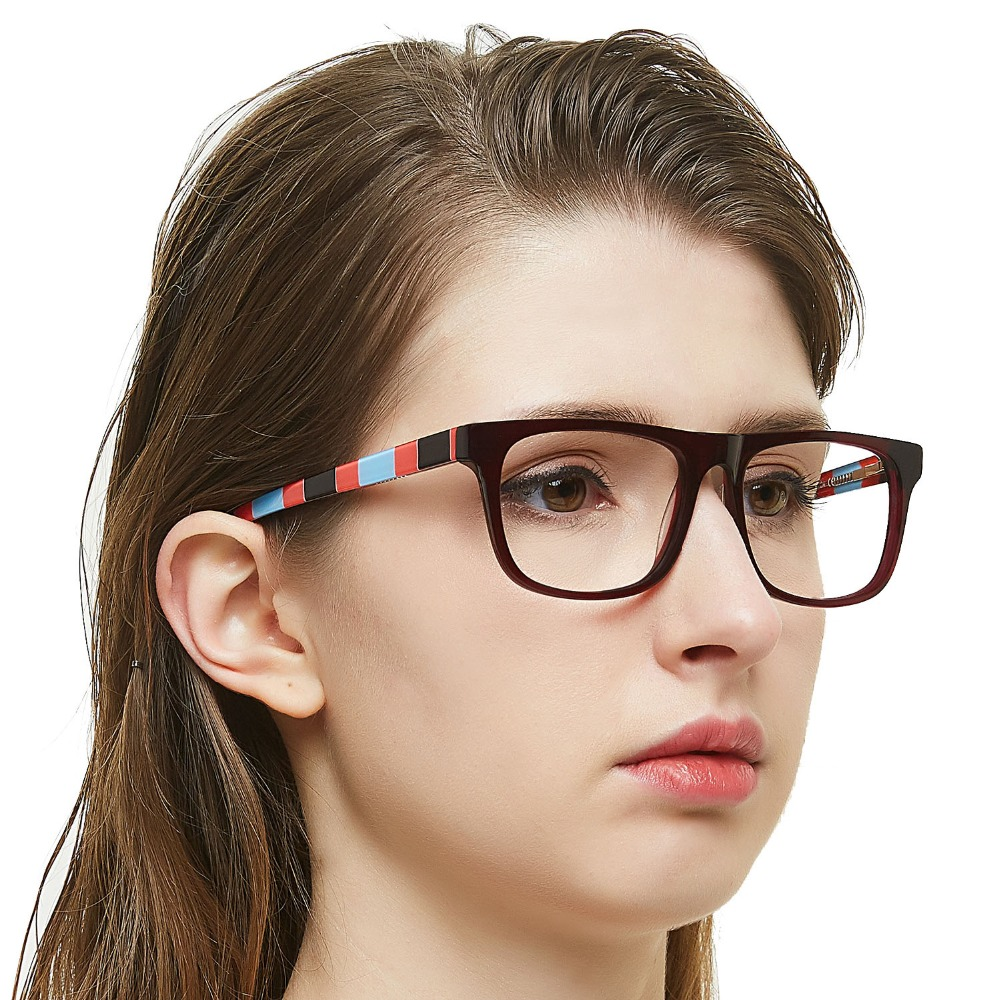 Anti Blue Light Eyeglasses Women Office Textured Myopia Optical Spectacle Frame Clear Computer Glasses Frames MARE AZZURO OC7047 in Women 39 s Eyewear Frames from Apparel Accessories