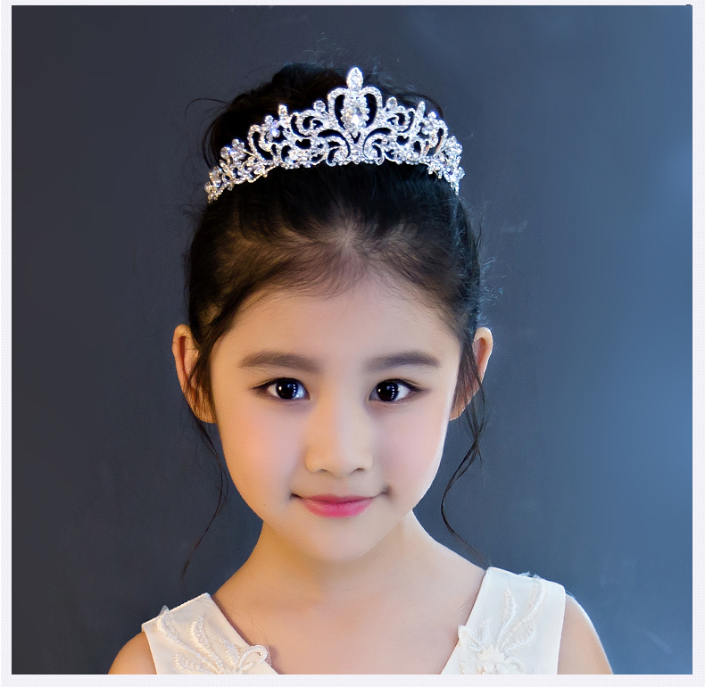 SHOSIXUAN Child crown princess lovely water drill girl hair ornament - Fashion Jewelry - Photo 2