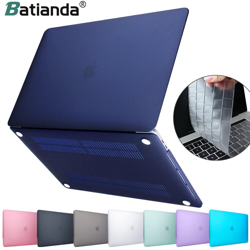 Novo cristal duro fosco fosco caso capa manga para macbook air 11 13 polegada a1466 a1932 pro 13 15 retina a1706 a1708 a1989