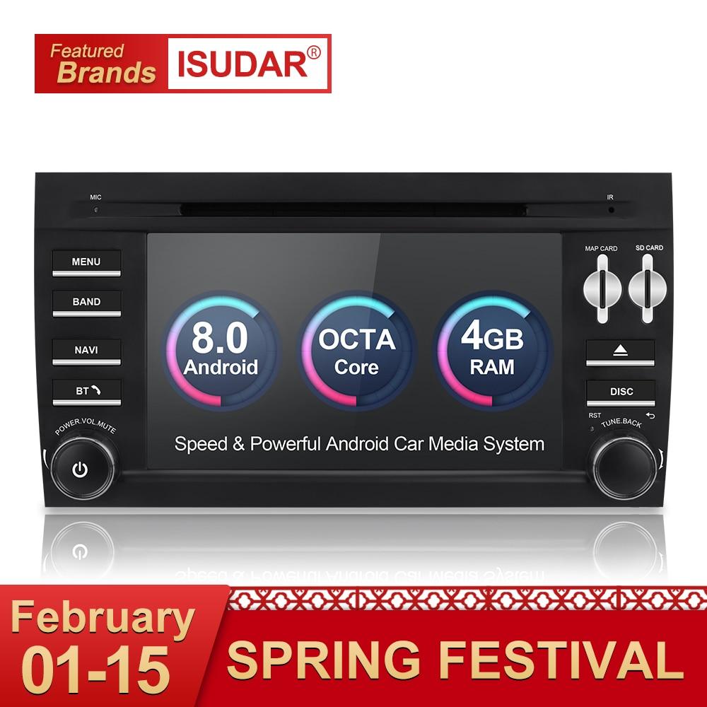 Isudar Auto Multimedia Player 2 din auto radio gps Android 8.0 Per Porsche/Cayenne OBD2 Microfono Bluetooth USB DVR DAB Wifi