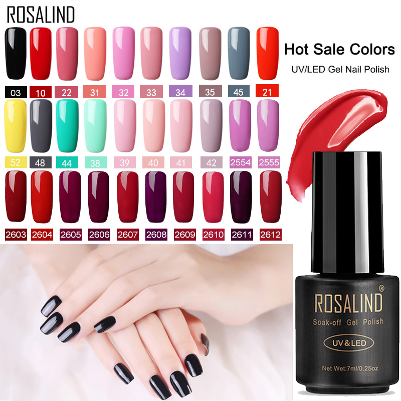 ROSALIND Gel Polish Nail Art Set For Manicure Hybrid Nails Color Polygel Vernis Semi Permanent UV Gel Nail Polish Gel Varnish(China)
