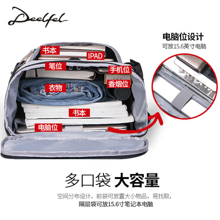 Casual backpack men's backpack fashion trend youth men's bag large capacity computer bag tide 5