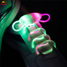 2pcs Light Up LED Shoelaces Fashion Flash Disco Party Glowing Night Sports Shoe Laces Shoe Strings Multicolors