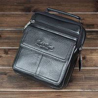 Genuine Leather Male Handbags High Quality Real Cowhide Business Men Messenger Bags Casual Travel Shoulder Bag