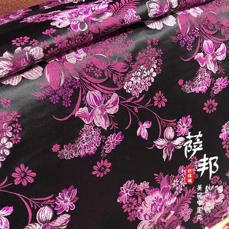 Винтажная атласная ткань с цветами, имитирующая шелковую парчовая ткань, дамасский жаккард, одежда для обивки костюмов, мебель tissu 75*50 см