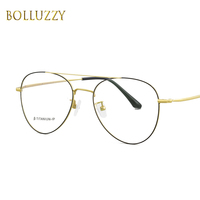 a38a74562 Titanium Eyeglasses Frame Round Retro Light Optical Glasses Frames Myopia  Prescription Vintage Eyewear Clear Lens For. Óculos de titânio Quadro ...