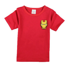 2017 Boys Short Sleeve T Shirts For Children Summer Iron Man T-shirt Cotton 1-18 Year Kids Clothing Baby Girls Tops Tees Clothes