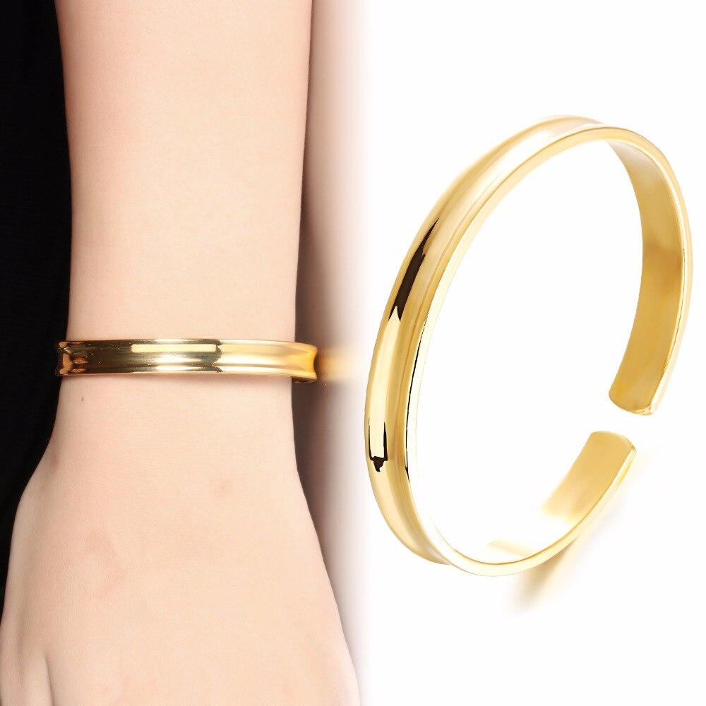 Прилив в 2015 с Невеста 18 К Jewelry покрытие Гладкий браслеты оптом аксессуары kh450