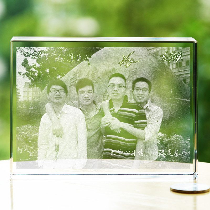 Graduation gift ideas crystal sculpture souvenir photo DIY ...