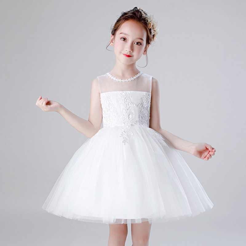 It's YiiYa Pageant Dress Embroid Tulle Flower Girl Dress For Wedding N Kid Party Girls First Holy Communion Dress 2019 BX1715