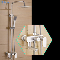 Dofaso Hand Held Shower Chrome Finish Wall Mount 8 Inch Thermostatic Bathroom Shower Faucet Mixer Taps