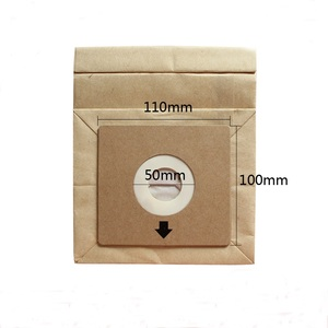 Image 2 - 15 Pcs General Vacuum cleaner dust paper bags 100*110mm Diameter 50mm Vacuum cleaner accessories parts