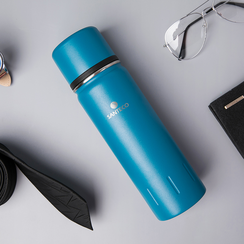 Santeco 500ml Coffee Thermos With Cup Double Wall Stainless Steel BPA Free Tea Milk Travel Gifts Vacuum Flasks Thermoses