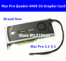 High quality Graphics card Quadro 4000 Q4000 2G DDR5 video cards with DVI and DP connector for mac pro free shipping by DHL