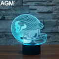 3D LED NFL Houston Texans Sport Illusion USB Table Light Touch 7 Colors Nightlights Lampara Desk Lamp For Children Kids Gifts